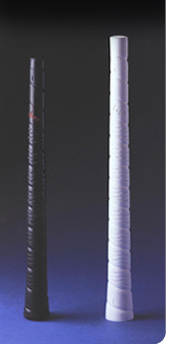 Finished golf club grip and its ceramic core.The use of advanced ceramics is one of the factors that sets SARCOL apart.